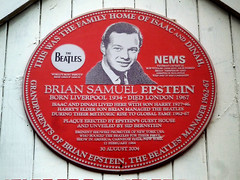 Photo of Harry Epstein red plaque