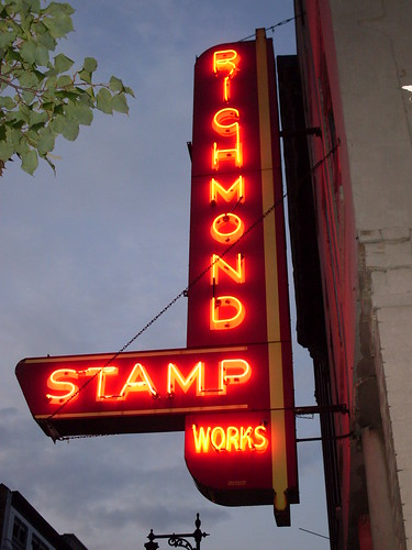 Richmond Stamp Works sign, Grand Rapids