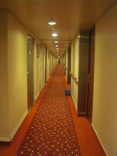 The reallllllly long hallway of Deck 9