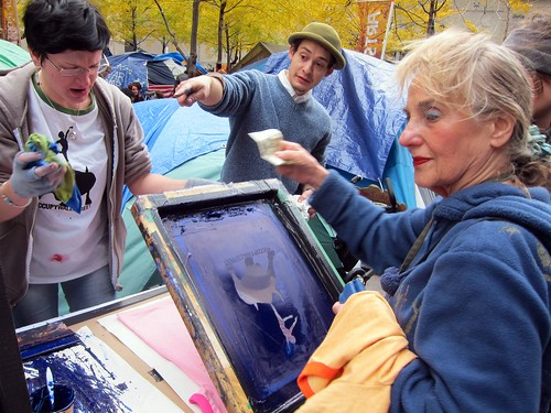 Occupy Wall Street: Day 58, Zuccotti Park, Screenprinting Lab