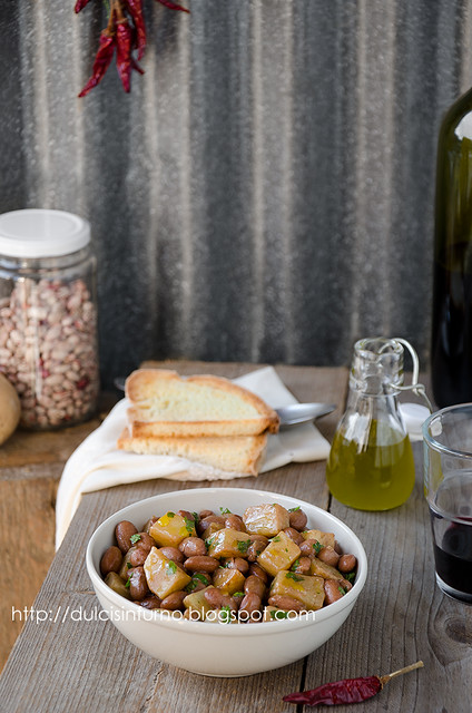 Insalata Calda di Patate e Fagioli-Warm Bean and Potato Salad