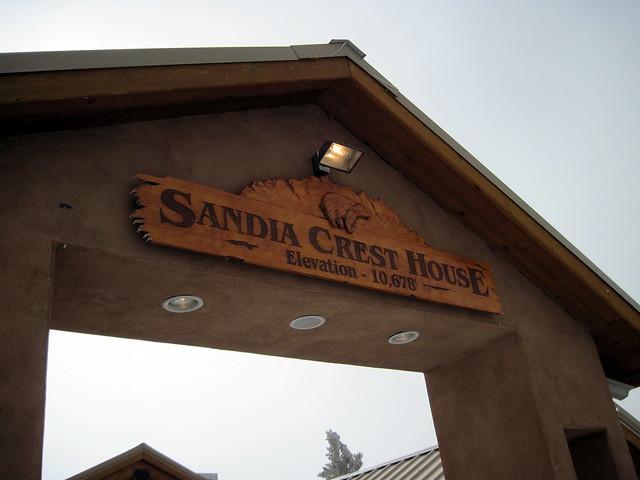 Sandia Crest House sign 20111114