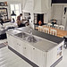 Lunda Gard / Aja and Christian Lund {gray and white eclectic rustic vintage modern kitchen}