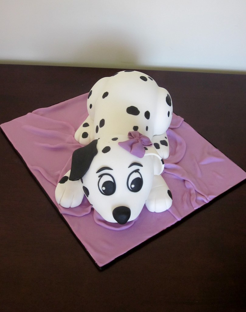 Dalmation Puppy Cake This Was Made For A Baby Shower Mum Flickr