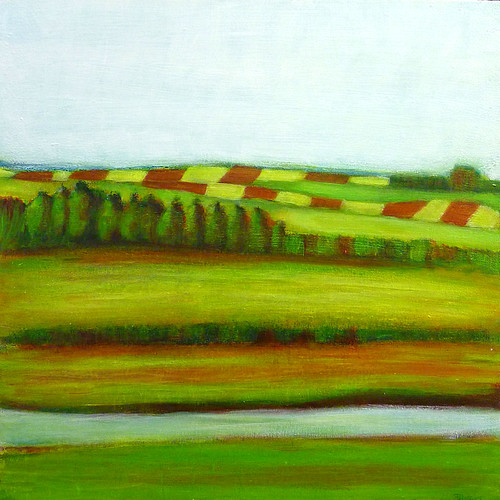 Landscape Mixed Media Painting Tutorial Farming