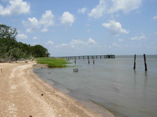 sky shells beach sc clouds bay pier dock sand marine mud georgetown estuary coastal shore carolina crabs trap winyah