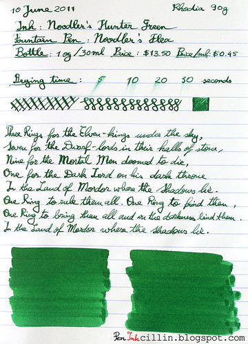 Noodler's Hunter Green - Rhodia