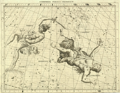 009-Andromeda-Perseo y el Triangulo-Atlas Coelestis 1729- John Flamsteed-University of Michigan Shapiro Science Library