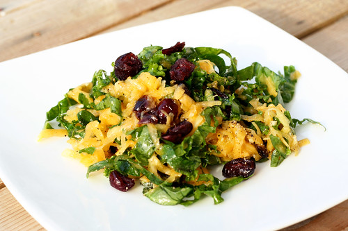 Raw Butternut Squash and Kale Salad