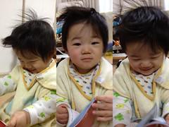 おはよう!起きたて寝癖読書とらちゃん!(2011/11/23)