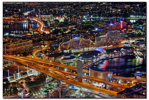 Sydney City Night HDR