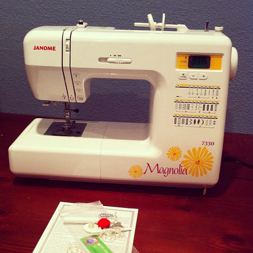 Project 365 329/365: Brand new sewing machine. I have absolutely no clue on what I'm doing. Craft challenged.
