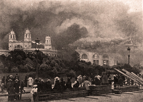 1893 World's Columbian Expo — Building on fire