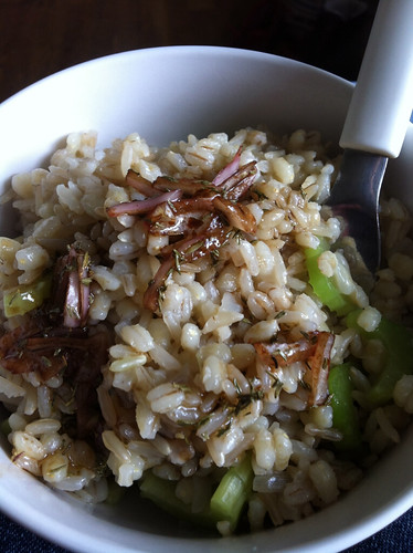 Rice and pearl barley 'salad'