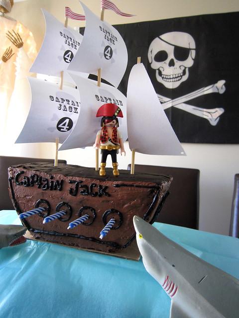 Pirate Ship Birthday Cake Sails Homemade - web