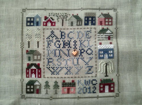 Twelve Houses Sampler(Drawn Thread) 19March2012