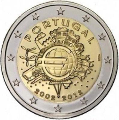 2 Euro Portugalsko 2012, 10. výročie zavedenia Eura