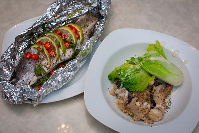 實驗廚房 - 紙包魚 鮮菇燉飯