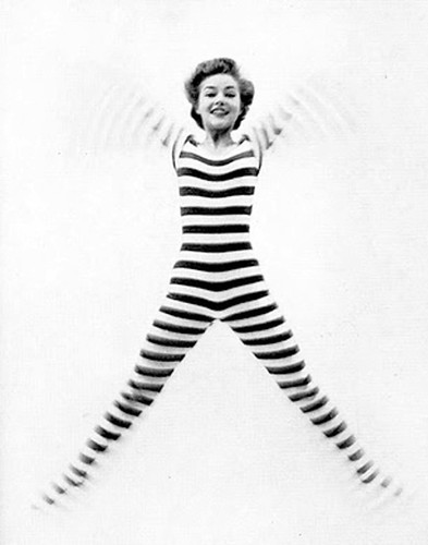 stripes jumping