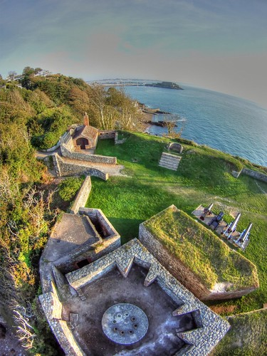 st century port sunrise photography fort battery 18th aerial pole peter clarence defence guernsey pap 960 photomatix gopro