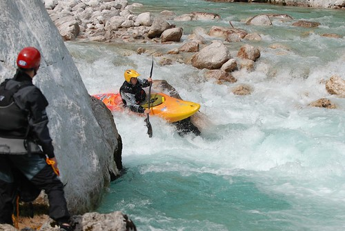 Fun rapids on the Soca, Slovenia