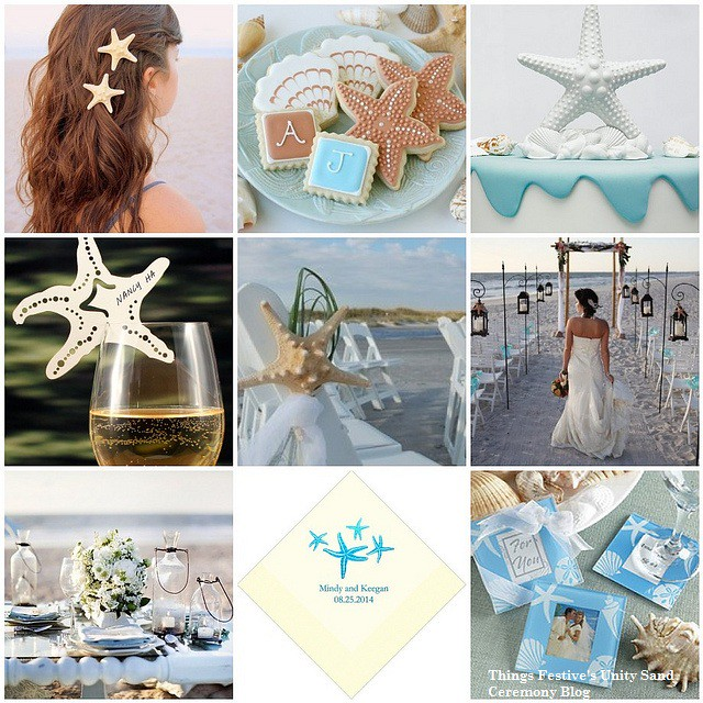 Beach Theme Wedding Vows : Unity sand ceremony starfish beach wedding theme