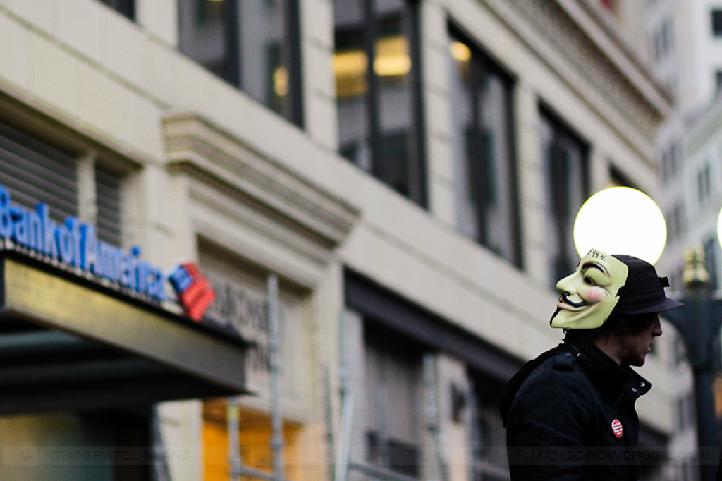 occupy seattle - boa vs. anonymous