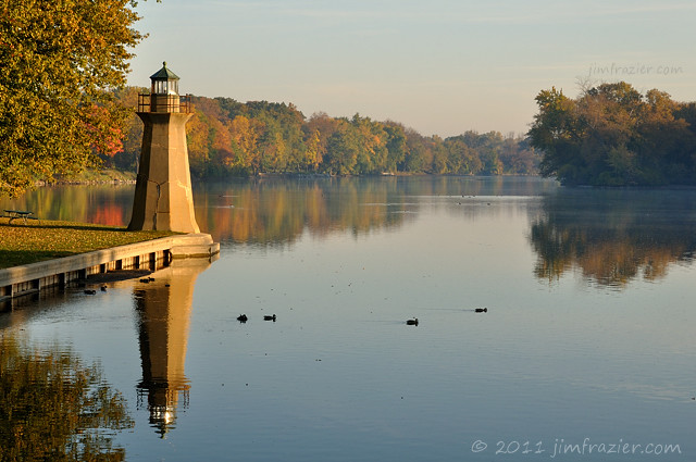 Looking North on the Fox River - Fall I