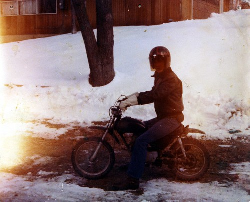 Dan, '74 Honda XR75 January 1979 by dclarson