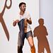 Karl Dubost et le laptop-jean-bag by Franck Paul