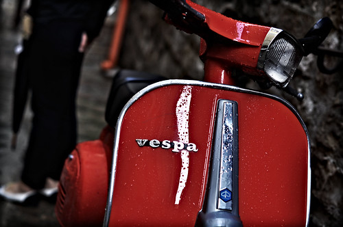 Red Vespa by j.c.!