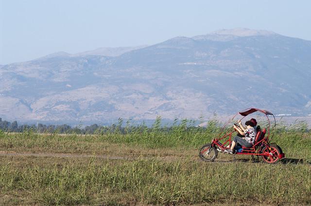 Quadcycle at Hula Lake