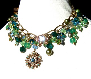 Green Goddess Statement Necklace