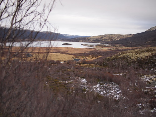 lake mountains norway norge opplandfylke dovrekommune