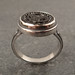 glass button ring 1 by downtothewiredesigns