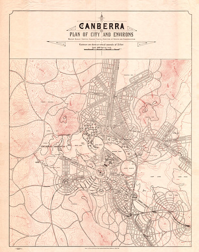 Canberra Plan of the City & Environs - September 1918