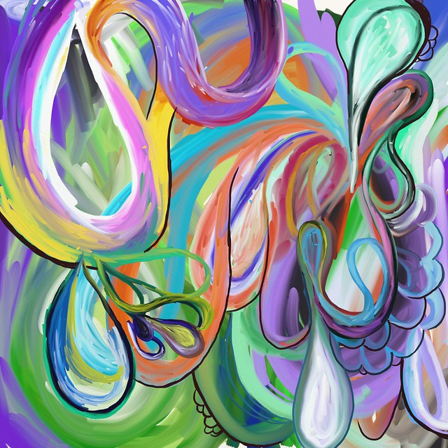 Oil and Water, Art Rage painting with The Flow stylus ...