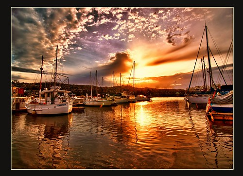 sunset boats hdr flickrstruereflection1 photoartimages