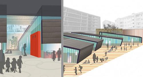 Concurso escuela infantil pamplona navarra 09 for Arquitectura de interiores universidades