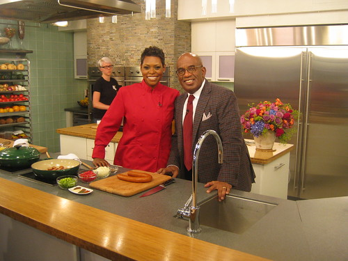 <p>Chef Jamika appearing on the Today Show with Al Roker.</p>