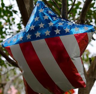 Star Ballon with USA Colors