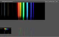 Great fluorescent spectrum from video spectrometer
