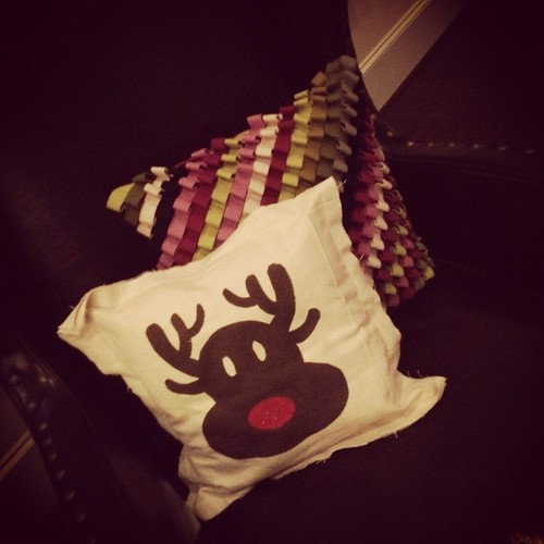 Reindeer pillow from friend Meredith!