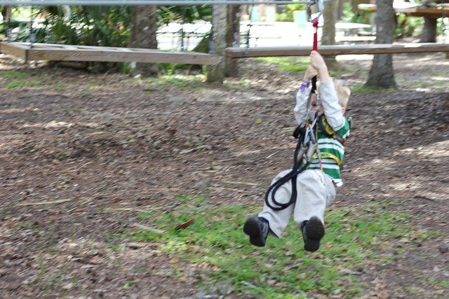 Zip Lining at the Sanford Central Florida Zoo
