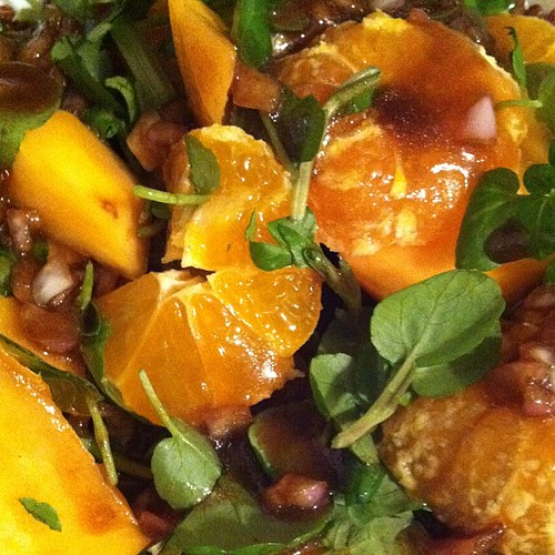 Orange-persimmon salad