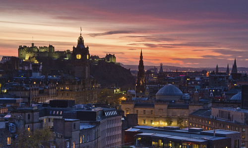 November Sunset from Calton Hill