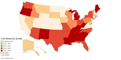 food stamp percent of population
