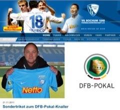 VfL Bochum: Trikot für den DFB-Pokal gegen FC Bayern München (Achtelfinale) 2011