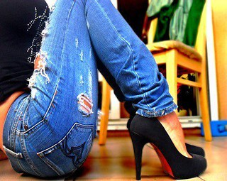 Ripped Jeans and Christian Louboutin