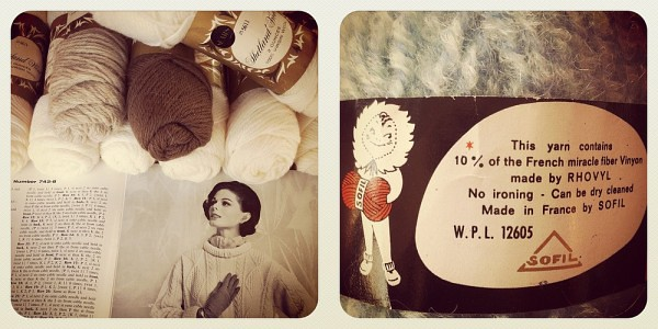Vintage Yarn & Knitting Books